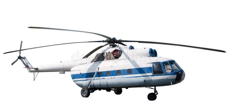 Helicóptero do passageiro isolado imagem de stock