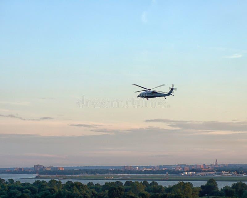 Helicóptero do presidente dos E.U. do FUZILEIRO NAVAL UM fotografia de stock royalty free