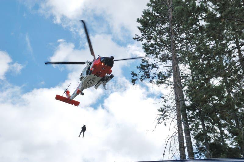 Helicóptero do protetor fotografia de stock