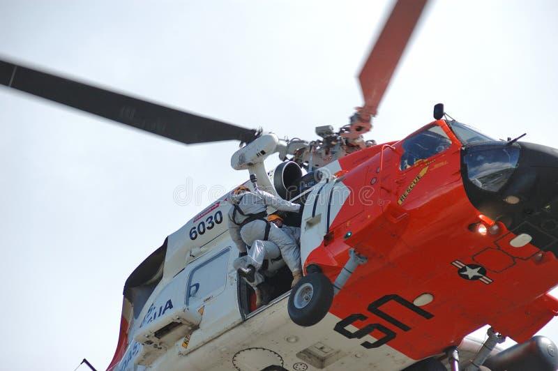 Helicóptero do protetor foto de stock