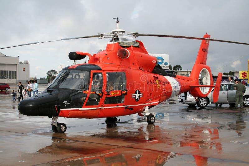 Helicóptero do salvamento do protetor de costa dos E.U. fotografia de stock