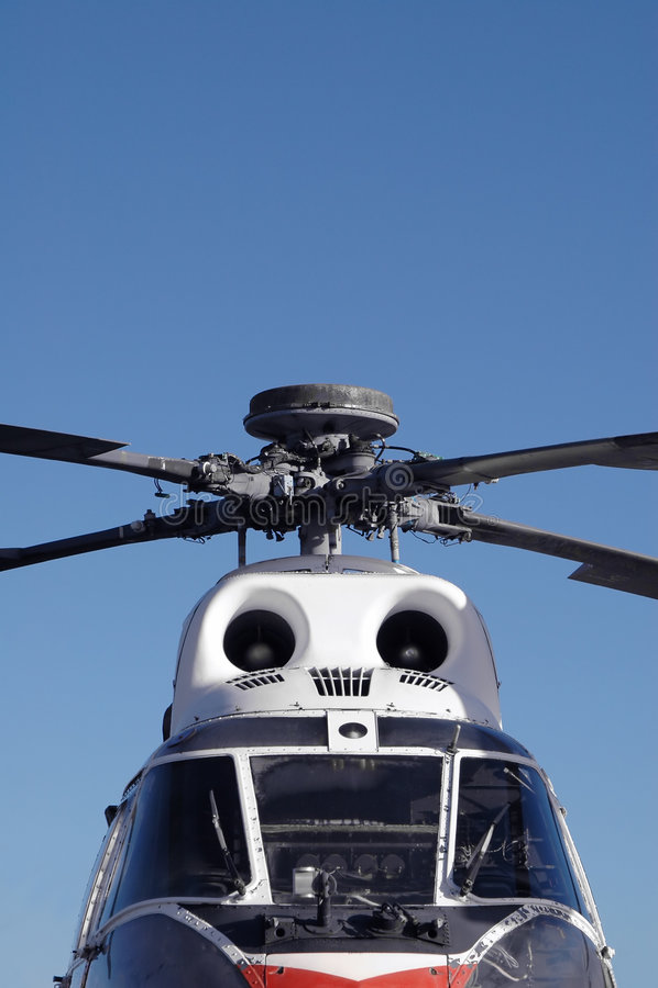 Helicóptero do vintage foto de stock