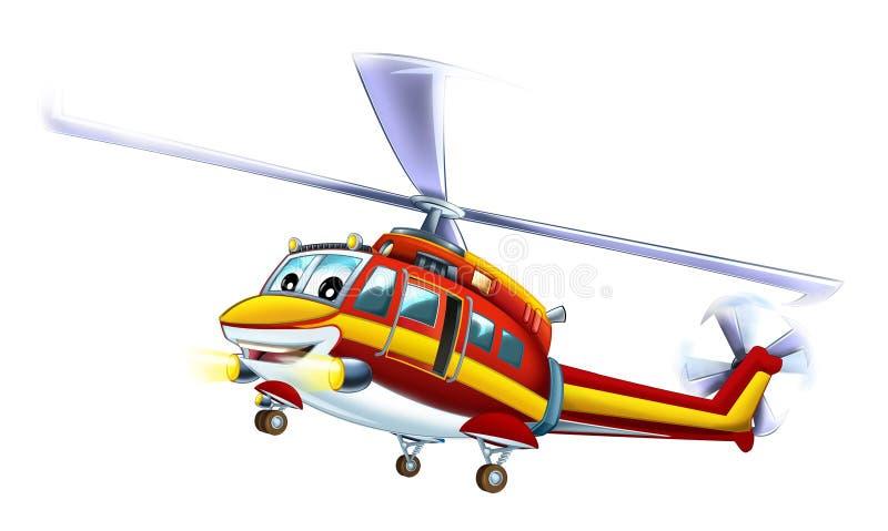 Helicóptero dos desenhos animados ilustração royalty free