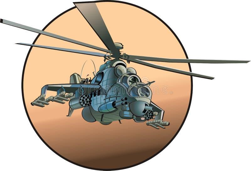 Helicóptero dos desenhos animados do vetor ilustração royalty free