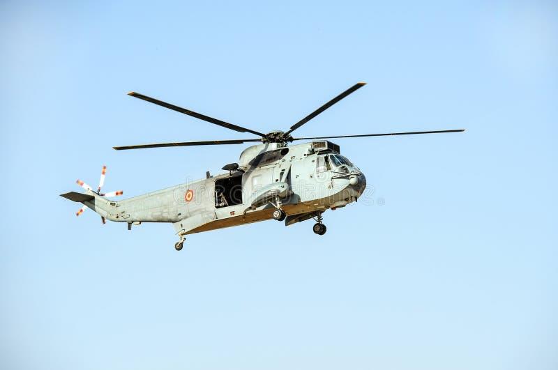Helicóptero español de los infantes de marina imagen de archivo libre de regalías