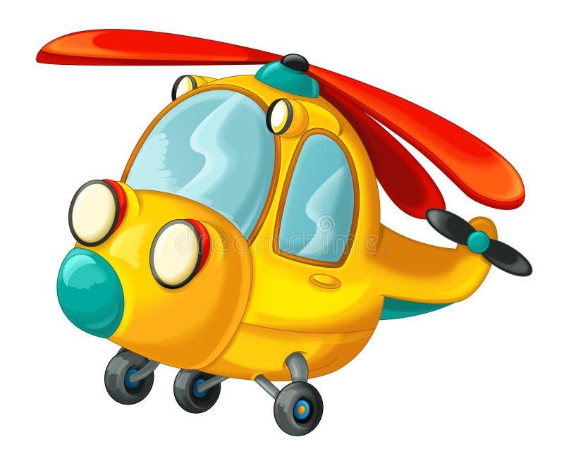 Helicóptero feliz e engraçado dos desenhos animados ilustração royalty free