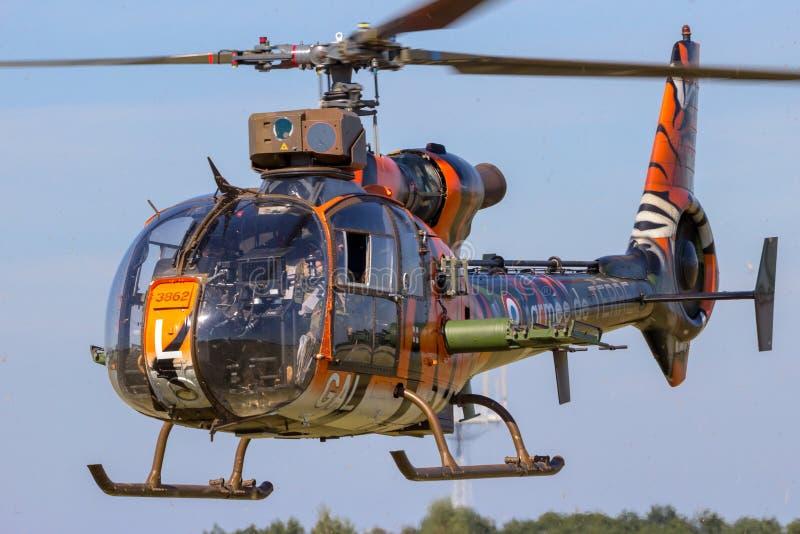 Helicóptero francês das forças armadas da gazela do exército fotografia de stock royalty free