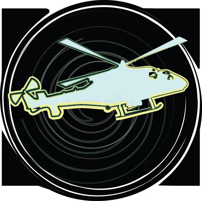 helicóptero Ilustração do vetor ilustração stock