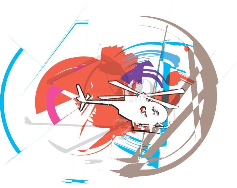 helicóptero Ilustração do vetor ilustração royalty free