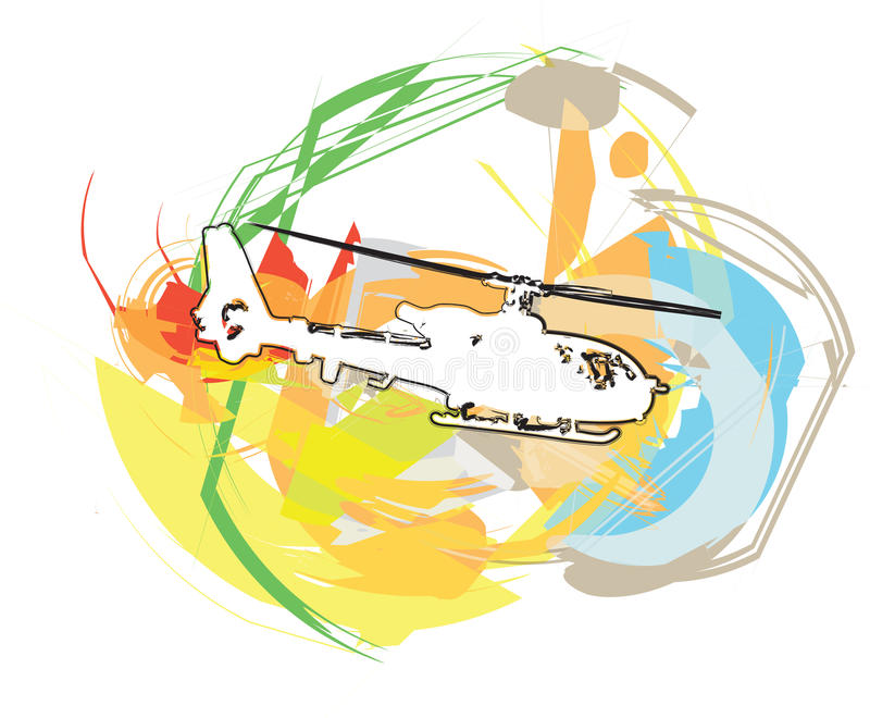 helicóptero Ilustração do vetor ilustração do vetor