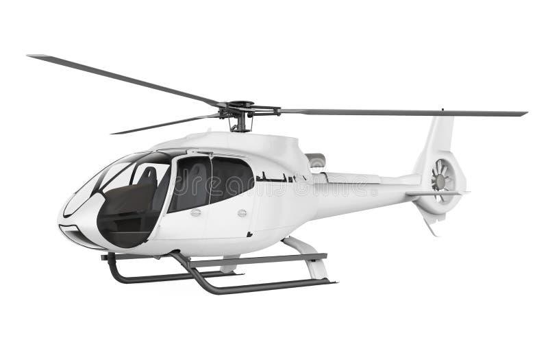 Helicóptero isolado ilustração stock