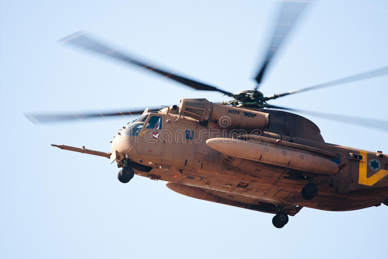 HELICÓPTERO ISRAELITA CH-53 DA FORÇA AÉREA fotografia de stock royalty free