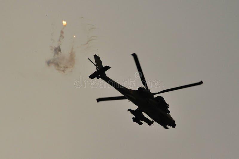 Helicóptero israelita da força aérea fotografia de stock royalty free