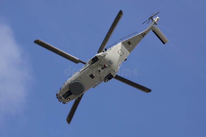 Helicóptero marinho fotografia de stock