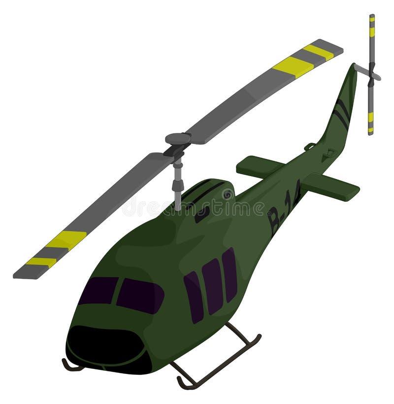 Helicóptero (militar) ilustração royalty free
