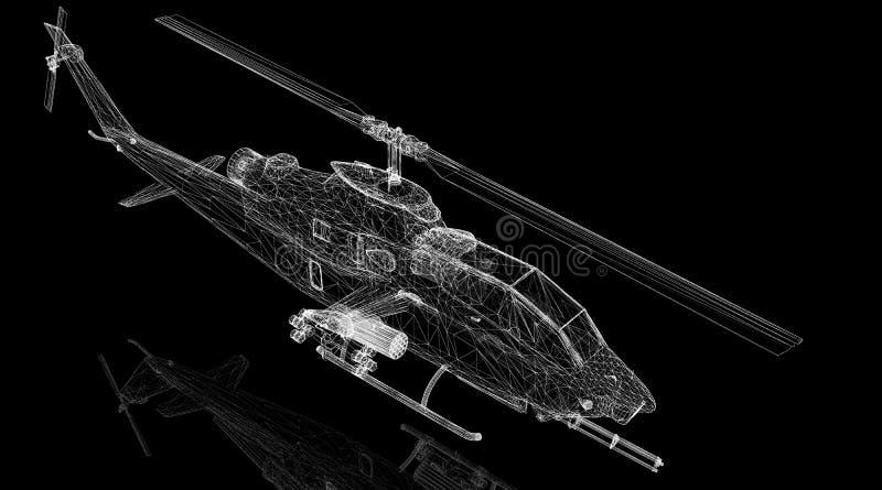 Helicóptero militar ilustração stock
