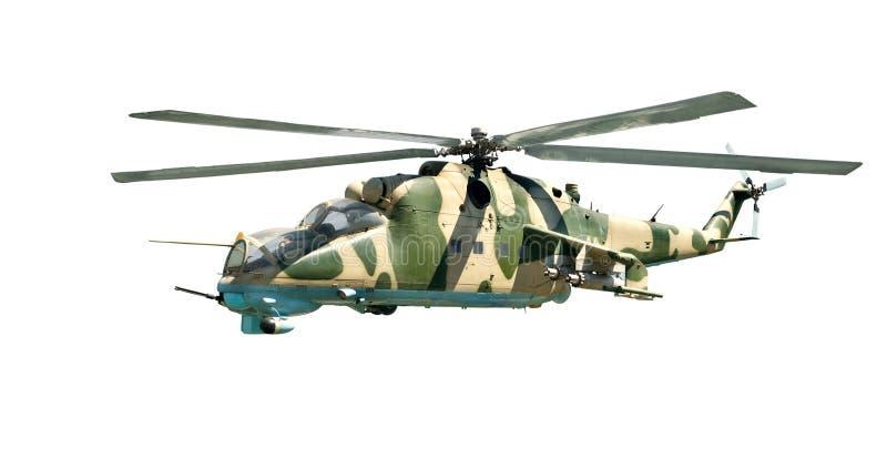 Helicóptero Militar Con El Colorante Del Camuflaje Imagen de archivo ...