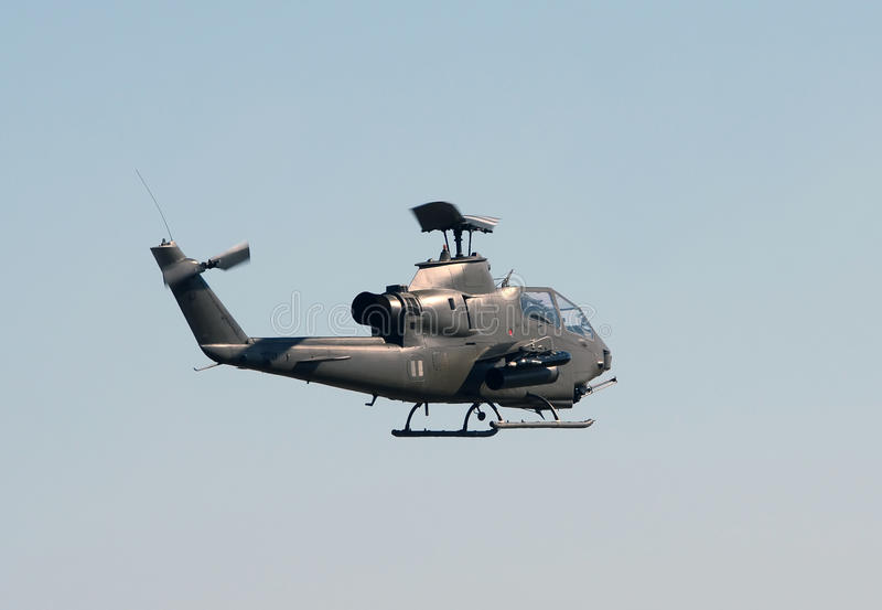Helicóptero militar velho fotos de stock