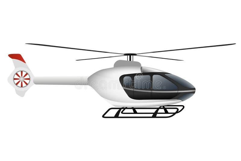 Helicóptero moderno branco ilustração stock
