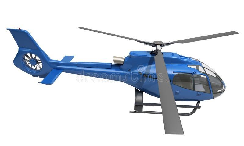 Helicóptero moderno isolado ilustração do vetor
