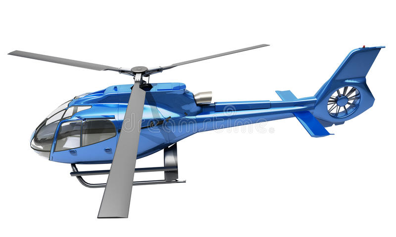 Helicóptero moderno isolado ilustração royalty free