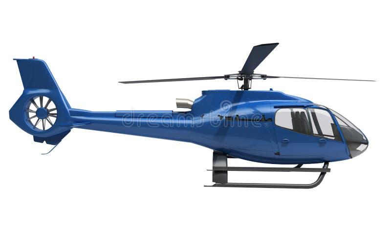 Helicóptero moderno isolado fotografia de stock