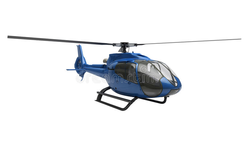 Helicóptero moderno isolado imagem de stock