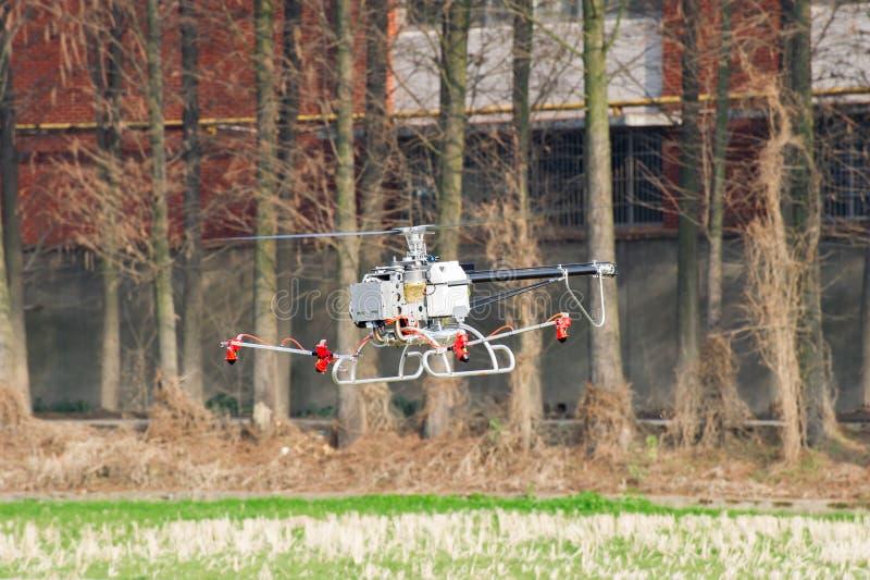 Helicóptero 2não pilotado imagem de stock