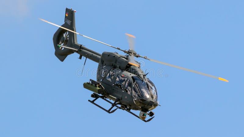 Helicóptero novo das forças armadas de Airbus H145M fotografia de stock royalty free