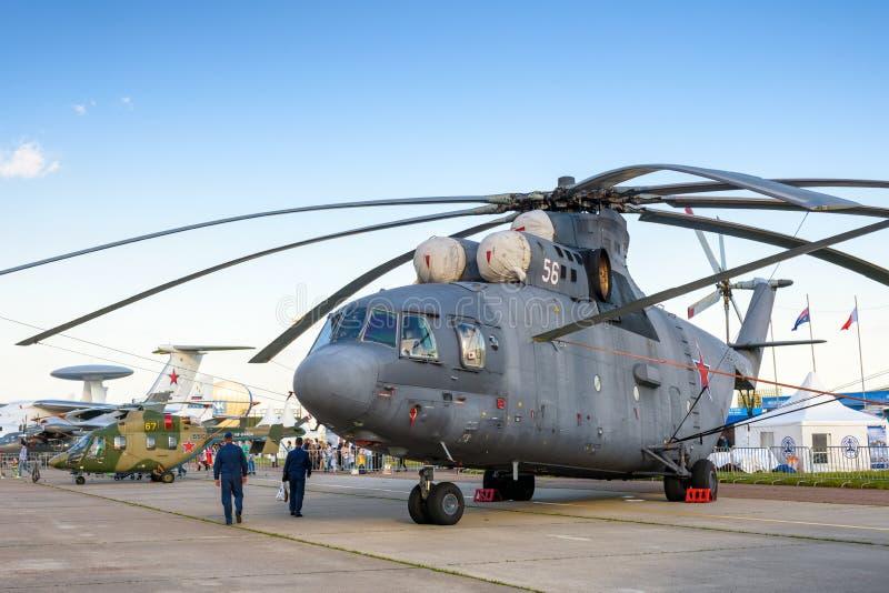Helicóptero pesado ruso Mi-26 del transporte foto de archivo libre de regalías