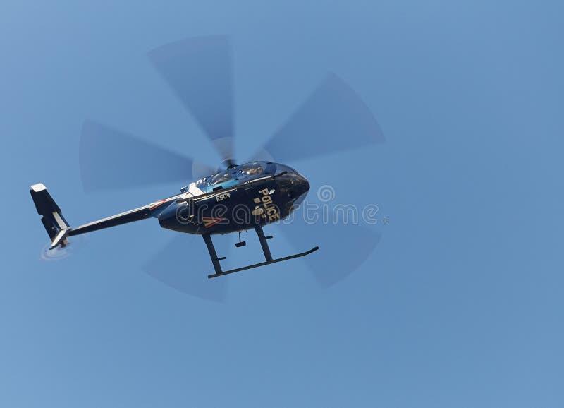 Helicóptero policial imágenes de archivo libres de regalías