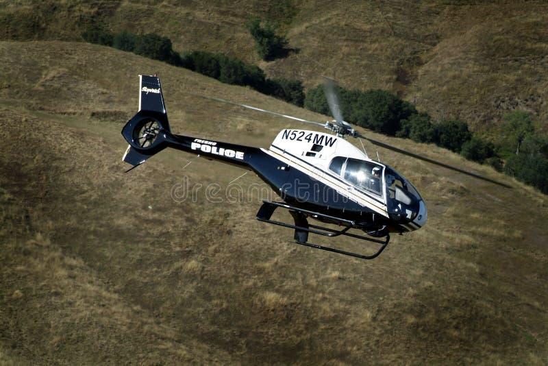 Helicóptero policial fotos de archivo libres de regalías