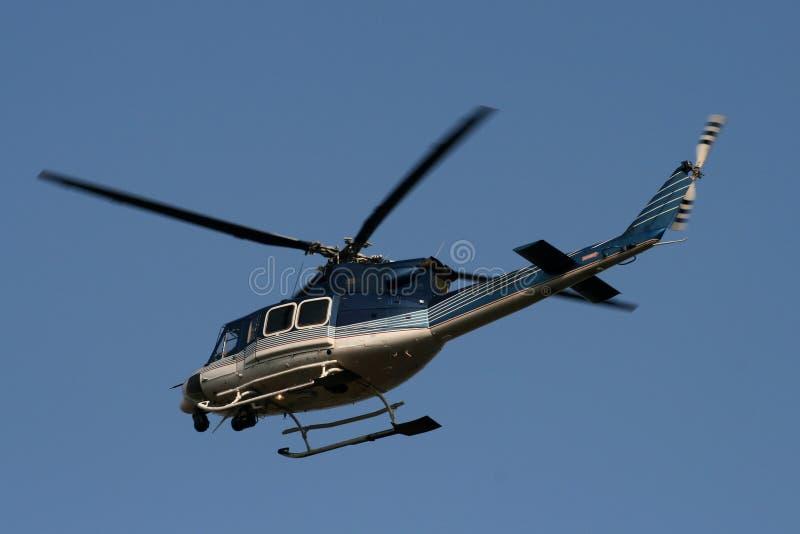Helicóptero policial imagen de archivo