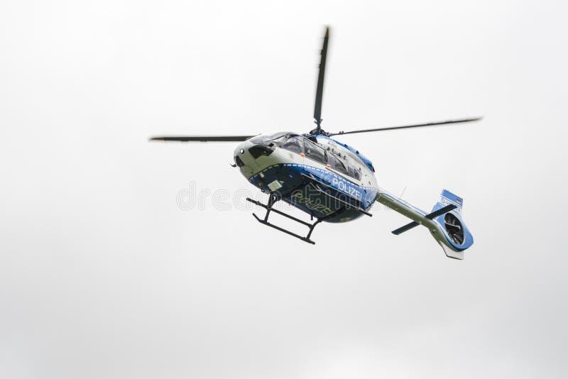 Helicóptero policial de Airbus fotos de archivo libres de regalías