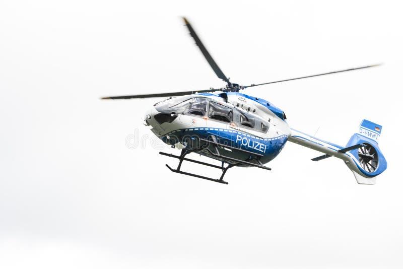 Helicóptero policial de Airbus imagen de archivo libre de regalías