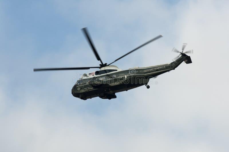 Helicóptero presidencial del infante de marina uno fotografía de archivo