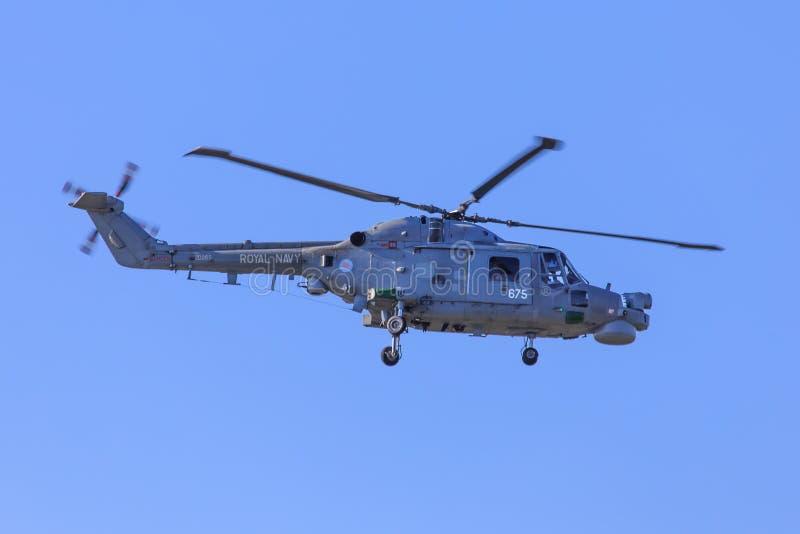 Helicóptero real del lince del ejército imagen de archivo libre de regalías