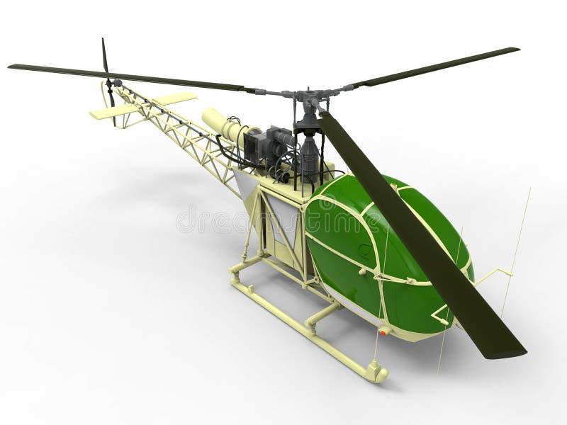 Helicóptero retro ilustración del vector