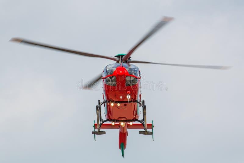 Helicóptero rojo foto de archivo