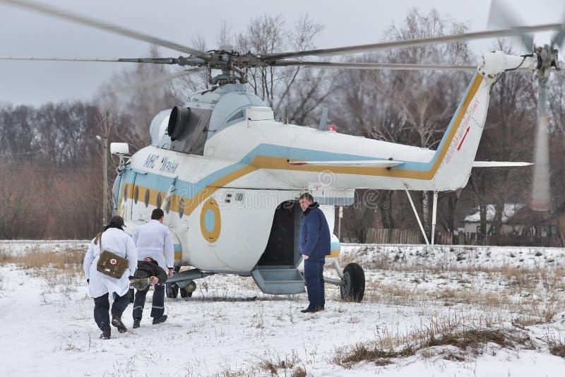 Helicóptero sanitario del ejército de la milipulgada Mi-8 foto de archivo libre de regalías