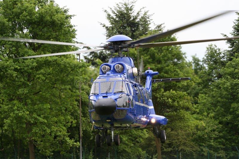 Helicóptero super alemão do puma de Eurocopter AS-332L1 da patrulha fronteiriça imagem de stock royalty free