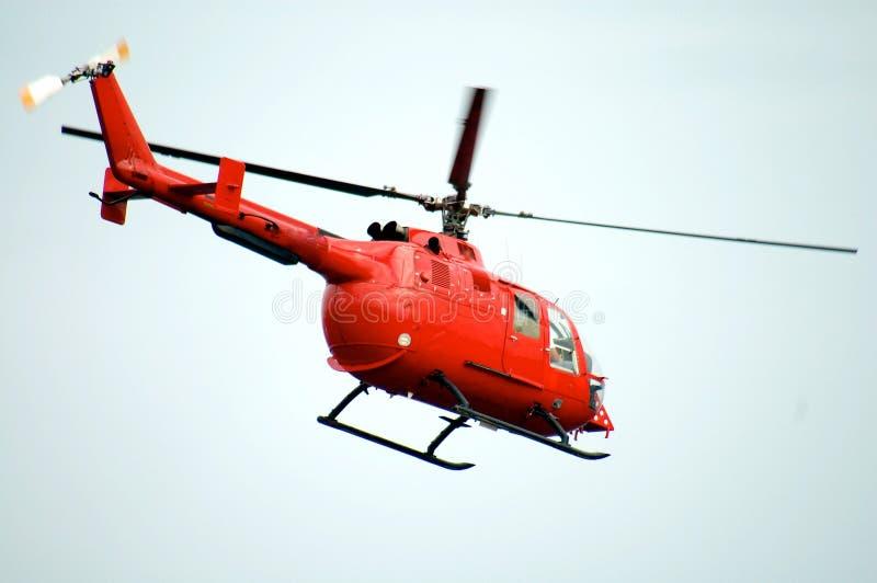 Helicóptero vermelho fotos de stock