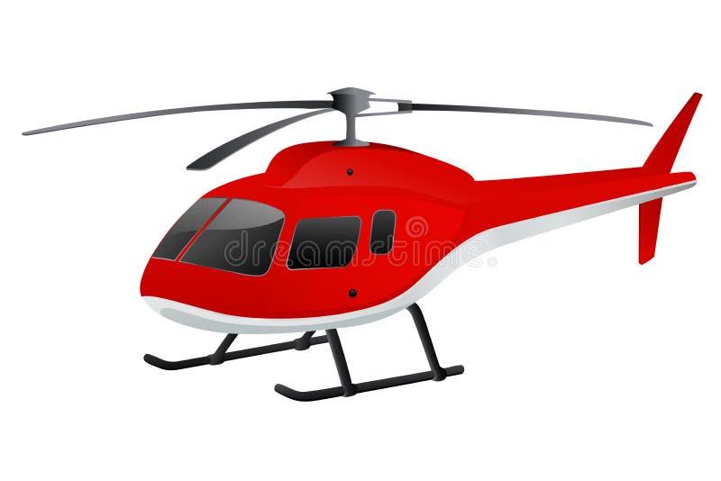 Helicóptero vermelho ilustração stock