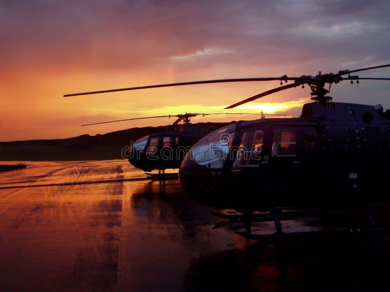 Helicópteros fotografía de archivo