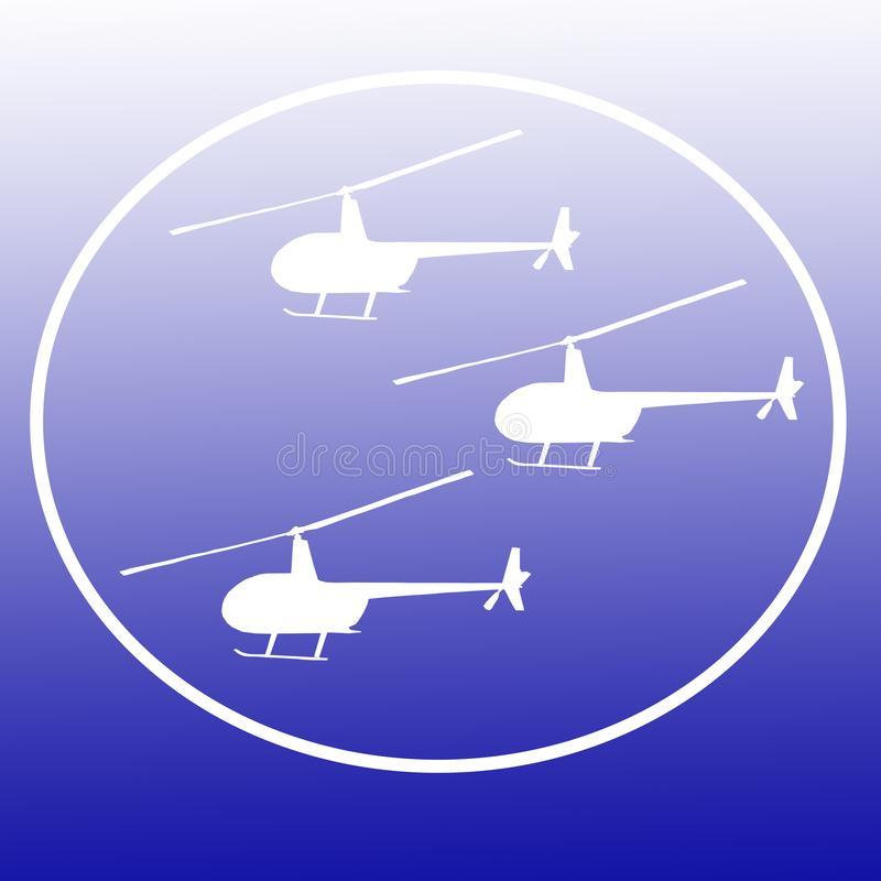 Helicópteros Logo Banner Background Image dos interruptores inversores ilustração stock