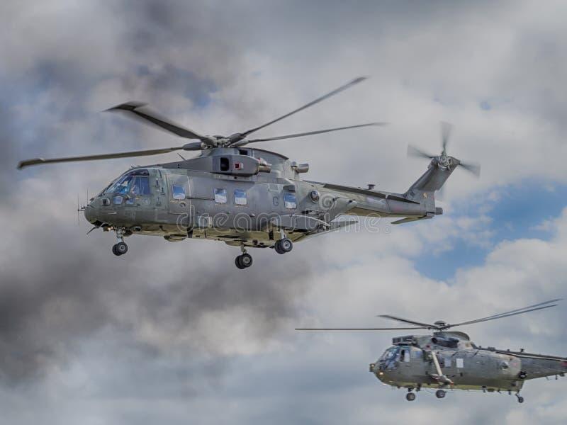Helicópteros reais da marinha fotos de stock