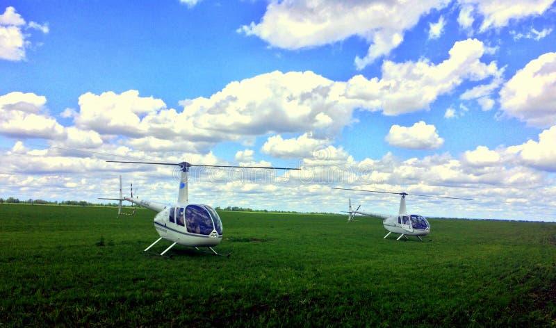 Helicópteros Robinson foto de archivo
