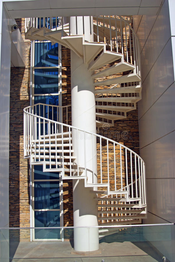 Helicoid stairs stock photography