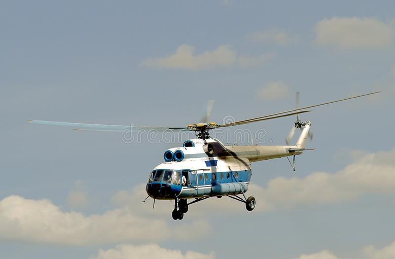 The helicopter royalty free stock image