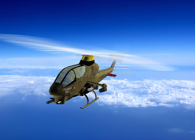 Download The helicopter stock illustration. Image of helicopter - 12762933